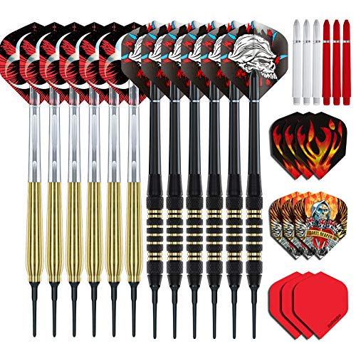 RED DRAGON Brass Value Softip Darts Set (4 Sets of Darts, 12 Darts in Total)