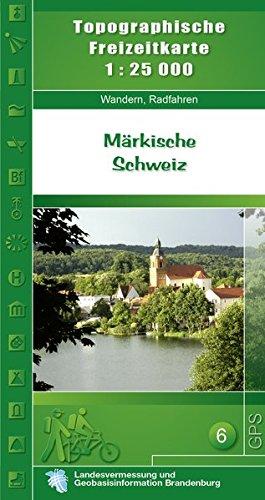 Topographische Karten Brandenburg, Märkische Schweiz (Topographische Freizeitkarte 1:25000, Land Brandenburg / Für Wanderungen, Rad- und Bootsfahrten)