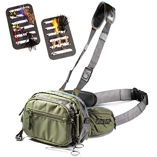 VIXYN Fly Fishing Chest Pack, Fly Fishing Waist Pack - Lightweight...