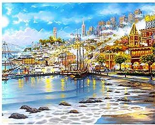 Superlucky Seascape Malen nach Zahlen Malen & Kalligraphie Malen nach Zahlen für Wohnzimmer Home Decor Mit Rahmen 40x50cm B07J3H5TKX  Ausreichende Versorgung