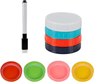Canning Lids, Wide Mouth Mason Jar Lids Colored Plastic Mason Jar Lid Strong Air Tightness and Safety Wear-Resistant Surfa...
