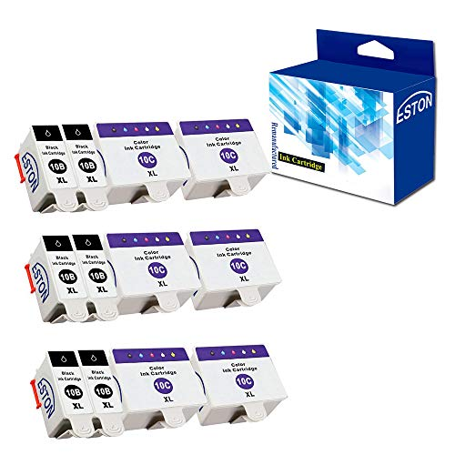 ESTON 12 Pack 10 XL Ink Cartridges for Kodak ESP 3 5 7 9 3250 5210 5250 6150 9250