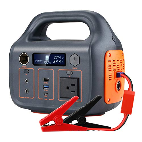 Portable Power Station, 266Wh Backup Lithium Battery, 110V/220V Pure Sine Wave AC Outlet, Solar Generator (Solar Panel Not Included) for Outdoors Camping Travel Hunting Emergency