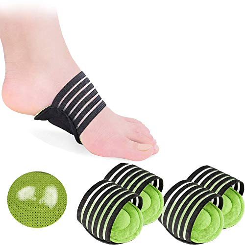 2 Pairs Extra Thick Cushioned Compression Arch Support with More Padded Comfort...