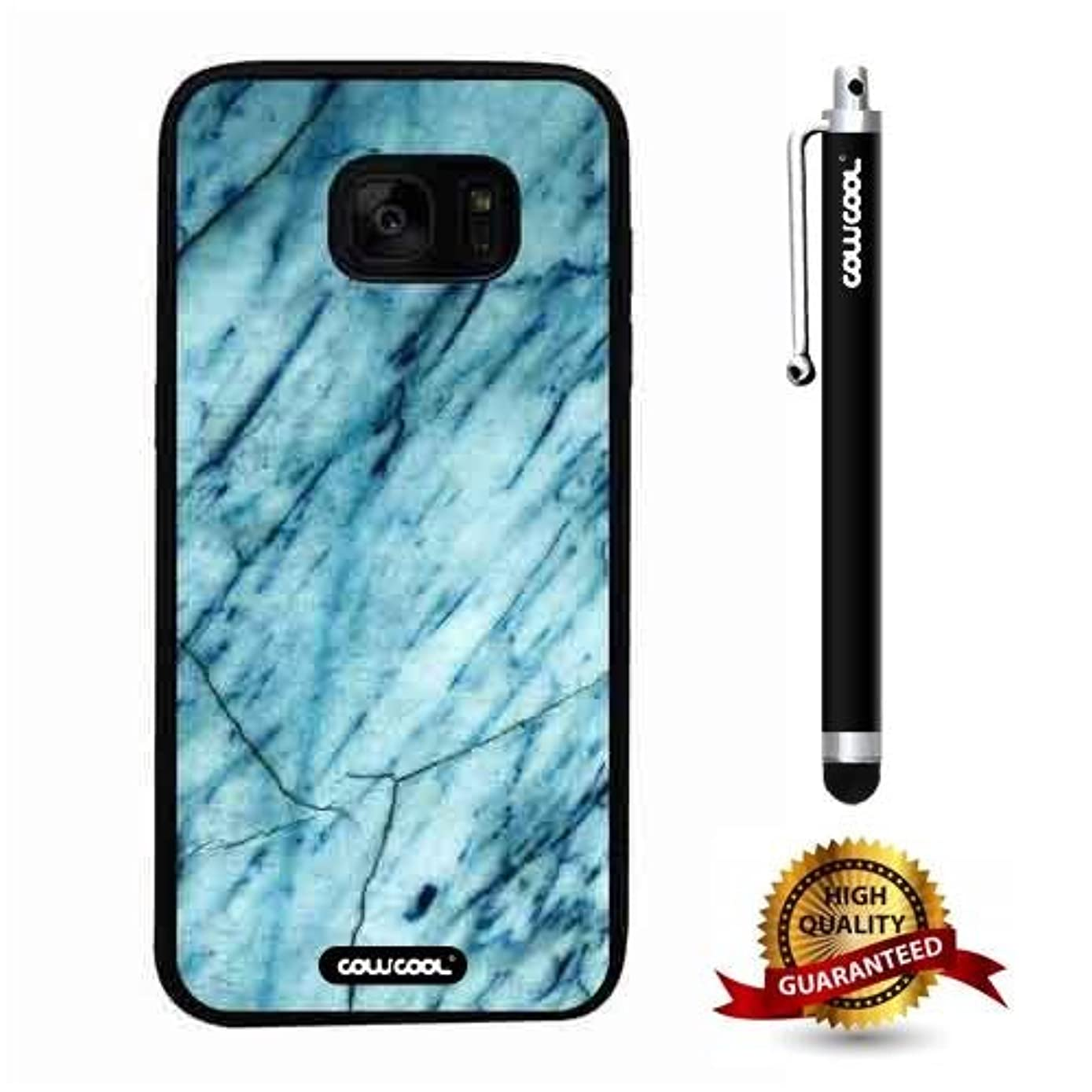Galaxy S7 edge Case, Marble Pattern Case, Cowcool Ultra Thin Soft Silicone Case for Samsung Galaxy S7 edge - Slash Grid Marble Texture