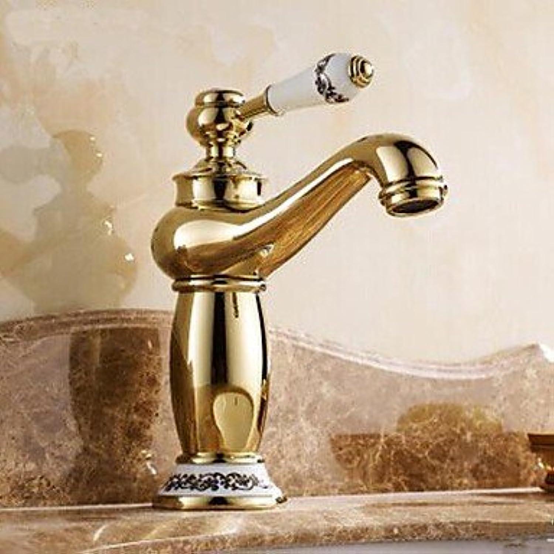 Lozse Ti-PVD Finish One Hole Single Handles Bathroom Sink tap