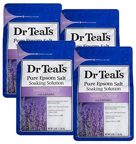 Dr Teal's Epsom Salt 4-pack (12 lbs Total) Soothe & Sleep with Lavender