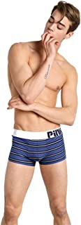 BaronHong Men's Cycling Striped Boxer Briefs Underwear (Pack of 3)