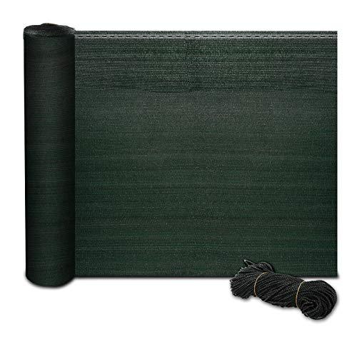 casa pura® Zaunblende | Fachhandel-Qualität | effektiver Sichtschutz, Windschutz, Schattiernetz | für Sportplatz, Garten, Maschendrahtzaun | Tennisblende grün | viele Größen (1,2m x 10m)