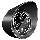 (BUNKIKI) 車用 アナログ 時計 ホンダ 専用 ベンツ BMW トヨタ 日産 マツダ 置き時計 クオーツ 時計 配線不要 インテリア ドレスアップ 納車プレゼント (ホンダ専用 ブラック)