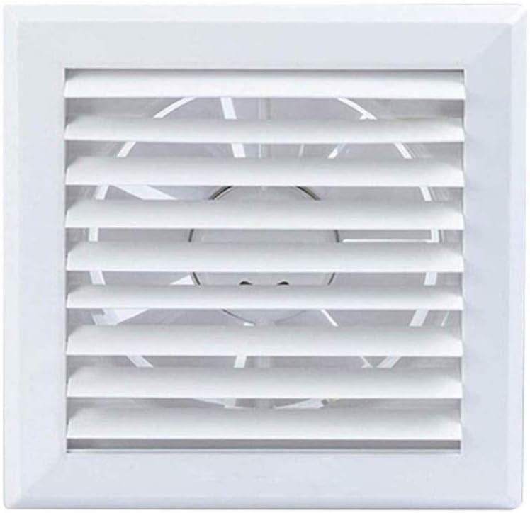 JYJZHX HQSBQISHAN De Pared Extractor, 4 Pulgadas, Ventilador de ventilación de habitación a habitación, de plástico Blanco del Cuadrado del Extintor, Mute