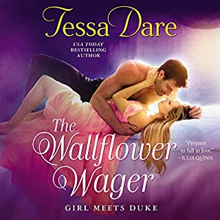 The Wallflower Wager audiobook cover art