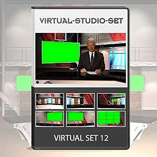 virtual news set background