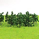D3210 100Stk. Zug Layout Modell Bäume Roadside Diorama 3cm Spur Z Minigarten Dekor Artificial Pflanz -