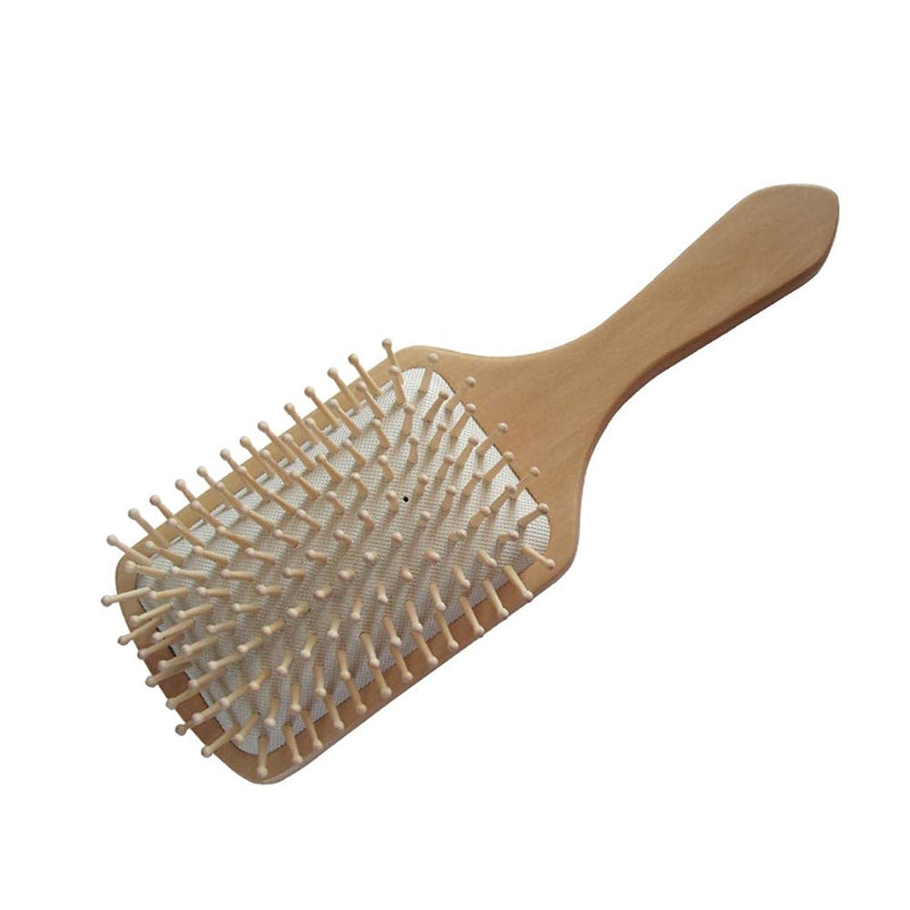 ゴミ箱彫るルアーヘアーコーム ヘアブラシ、ナチュラルな木製の大きなハンドル、エアバッグマッサージの櫛男性と女性のための、タングル、長く、厚い、カーリー、波状の、乾燥した、損傷した髪のための最高のヘアブラシスタイル 理髪の櫛 (色 : 白)