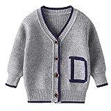 Pull Cardigan imprimé Lettres pour Enfants Enfant en Bas âge Enfants bébé Filles garçon Veste d'hiver Manteau Chaud Tricot Crochet Pull Usure