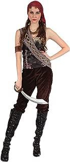 Bristol Novelty AC165 Pirate Gypsy Lady Costume (UK 10-14)