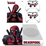 Adventure Games - XBOX ONE S - Deadpool - Vinyl Console Skin Decal Sticker + 2 Controller Skins Set