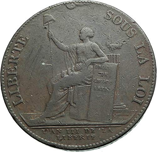 1791 unknown 1791 FRANCE French Revolution Time 2 Sols Medal T coin Good