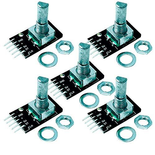 AZDelivery 5 x KY-040 Drehwinkelgeber Drehgeber Rotary Encoder Modul kompatibel mit Arduino inklusive E-Book!