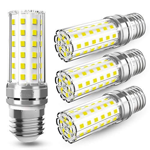 E27 LED Mais Birne 12W LED E27 Glühbirne Kaltweiß 6000K 1450LM Ersetzt Glühbirnen 100W, Edison Schraube E27 Led Lampen Kerze Licht E27 Maiskolben Led Energiesparlampe Birnen Nicht Dimmbar - 4er Pack