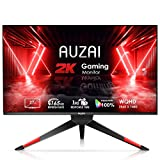 AUZAI Gaming Monitor- 27 Inch 2K Computer Monitor, 2560x1440 WQHD 165Hz 1ms(MPRT), Ultra Slim Screen with 2xHDMI DisplayPort, Compatible with G-SYNC AMD-Sync, Height/Pivot/Tilt Adjustable