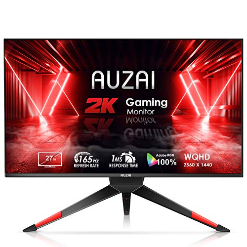 2k monitor for gamings Gaming Monitor - 2021 AUZAI 27 Inch 2K 1ms 165Hz/144Hz Computer Monitor, WQHD 2560x1440p Frameless Screen, Support G-SYNC & FreeSync, Eye Care HDMI Display for Xbox PS4/5, Height/Pivot/Tilt Adjustable