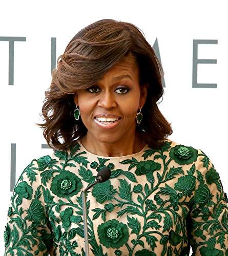 bucraft Michelle Obama stylischer grüner Anzug, 20,3 x 25,4 cm