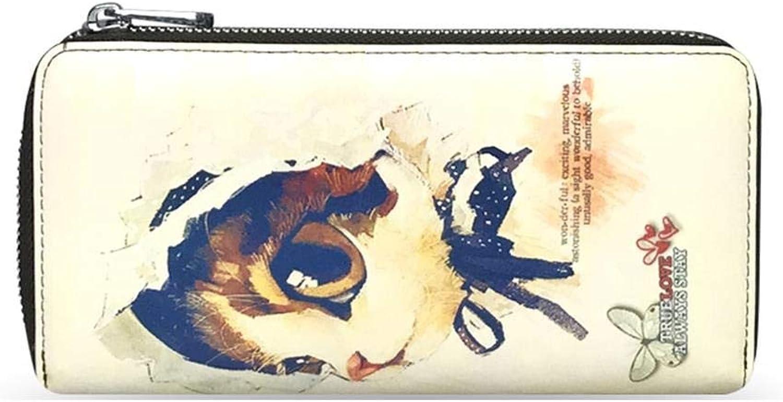 WeoHau Karikatur-Druck-Kupplungs-Art- Und Weisedame Pu-Lange Mappe-Große Kapazität Multifunktions, G G G B07PCSPNQT 365647