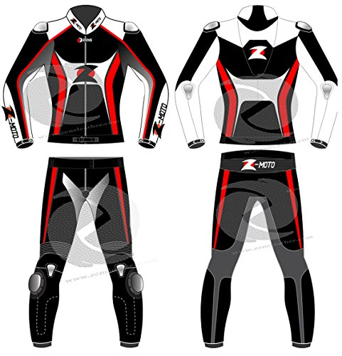Zens Motorrad Lederanzug Rennbekleidung gehören CE Panzerungen nach Maß (Maßarbeit)