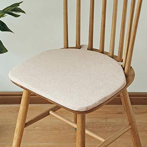QIAOTT Windsor Stuhlkissen,Dining Chair Kissen rutschfest Zurück Sitzpad Holzbolzen Befestigung Einfarbig-b 42x38cm(17x15inch)
