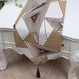 lquide Kaffeetischdecke Tischfahne Tischlufer Klassisch Abdecktuch Brokat Amerikanisch Europisch (Farbe: Stil 6, Grße: 33x300cm)