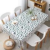 XXDD Hule de poliéster Mantel a Cuadros Impermeable Azul y Blanco y Negro Cocina Comedor Cubierta de Mesa Decorativa Restaurante A4 140x140cm
