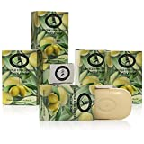 Pure Castile Soap Bars - 6 Pack - 5 oz Each - Unscented Organic Soap Bars - All Vegan Olive Oil &...