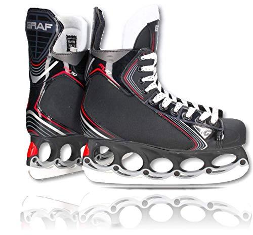 tblade Schlittschuhe GRAF Pk110 Eishockey und Freestyle t Blade Schlittschuhe Eislaufen Größe 43