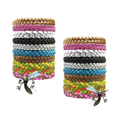 VAVADEN Mückenschutz Armband (10 Stück) Mosqito Mückenarmband Leder Insektenschutz Natürlicher und DEET freier Schutz gegen Mücken Outdoor Indoor Mosquito Für Kinder Erwachsene geeignet