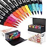 100 Colores Rotuladores Punta Fina, Acuarelables Marcadores de Pincel para Niños y Adultos Dibujo, Caligrafía, Lettering, Bullet Journal HO-100B