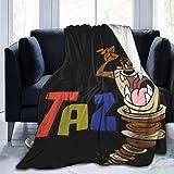 VJSDIUD Manta Tasmanian Devil Taz(28) 3D Print Throw Blankets Couch and Plush House Warming Gift Idea - All Season Durable Home Decor Stylish Travel Weighted Blanket 50'x40'