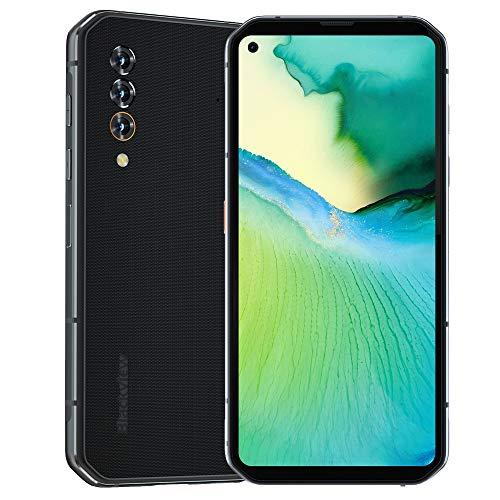Blackview BL6000 Pro 5G Smartphones Libres IP68 48MP + cámara de 16MP, 8GB RAM 256GB ROM, MT6873 Android 10 Móviles, 5280mAh batería, QI Wireless Charging NFC GPS FM Giroscopio - Gris