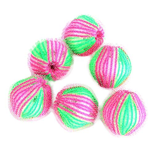 CAOLATOR 6 Stück Fusselbälle Mini-Waschbälle 3.5 cm gegen Flusen Fusseln Haarfänger Waschmaschine Ball Wäschekugel flusenfreie gegen Pilling bilden für Waschmaschine