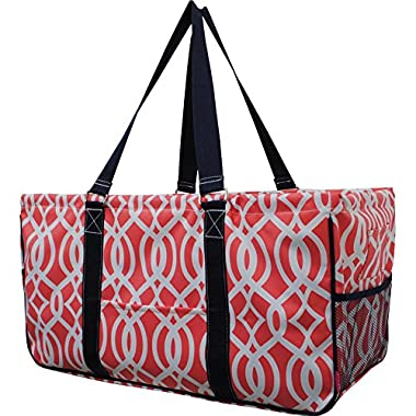 N. Gil All Purpose Open Top 23  Classic Extra Large Utility Tote Bag 2 (Vine Coral)