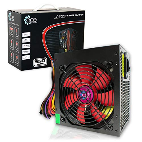 Switching Power Supply PSU 550W ATX with 12cm Silent Red Fan/for PC Computer/iCHOOSE