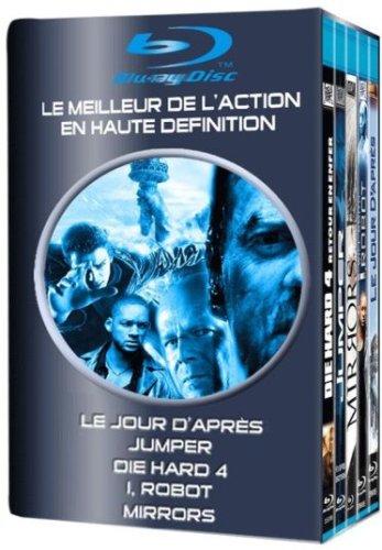 Le jour d'après + Jumper + Die Hard 4 + I, Robot + Mirrors - Coffret Action 5 Blu-ray [FR Import]