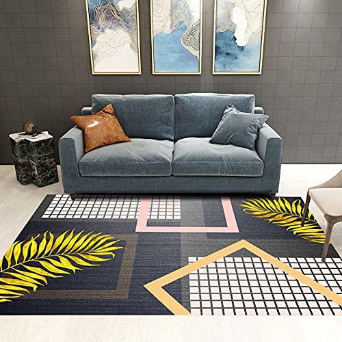 Tapis Poil Court Tapis Salon Pas Cher Blue Jaune Feuilles Home Design Girl Girl Room Accessoires Safe Protection de l