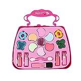 WZXX Juego de Maquillaje de fantasía para niñas, fácil de Limpiar Juego de Juguetes de Maquillaje para niños Seguridad para la Salud Caja de Maquillaje de Princesa Regalos 2pcs,15.2 * 14.5 * 6.2cm