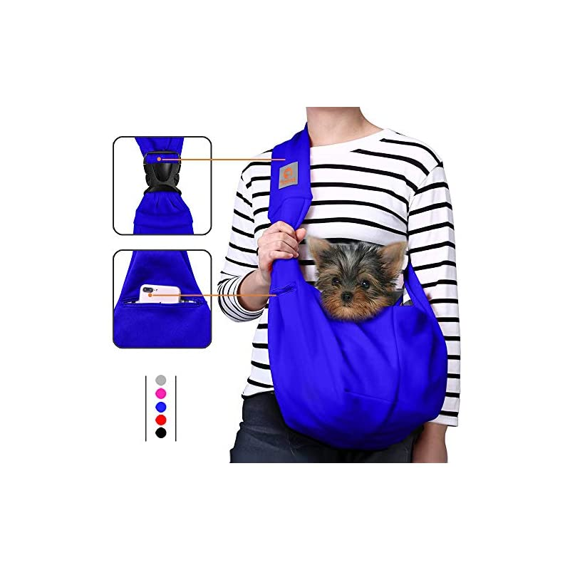 dog supplies online tomkas dog carrier for small dogs small dog sling carrier puppy carrier for small dogs puppies carrier(royal blue - adjustable buckle for 3-10 lbs)