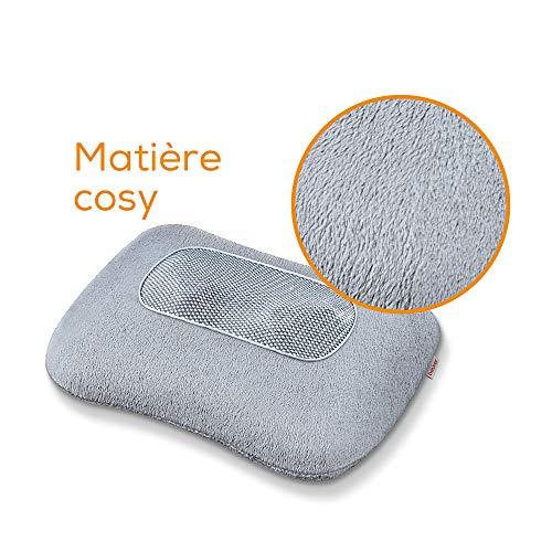 Beurer MG 145   Coussin de massage Shiatsu   Coussin chauffant massant   Parfait pour les cervicales, le mal de dos et les lombaires   Relaxation et bien-être à la maison