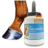 *® Olio per zoccoli con spazzola cura per zoccoli, flacone per spazzoli per cavalli, cura per zoccoli fragili, screpolati e secchi, rigenera la struttura del corno e contrasta il corno secco 500 ml