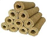 Tappeto di roditore realizzato al 100% in canapa, 120 x 50 cm x 5 mm di spessore, confezione da 10 (5,03 EUR / pezzo),Tappetino per roditori Adatto Come Rivestimento per Pavimenti a Gabbia