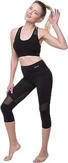 NIRLON Capri Leggings for Women High Waist Workout Capri's Yoga Pants with Mesh Yoga Pants